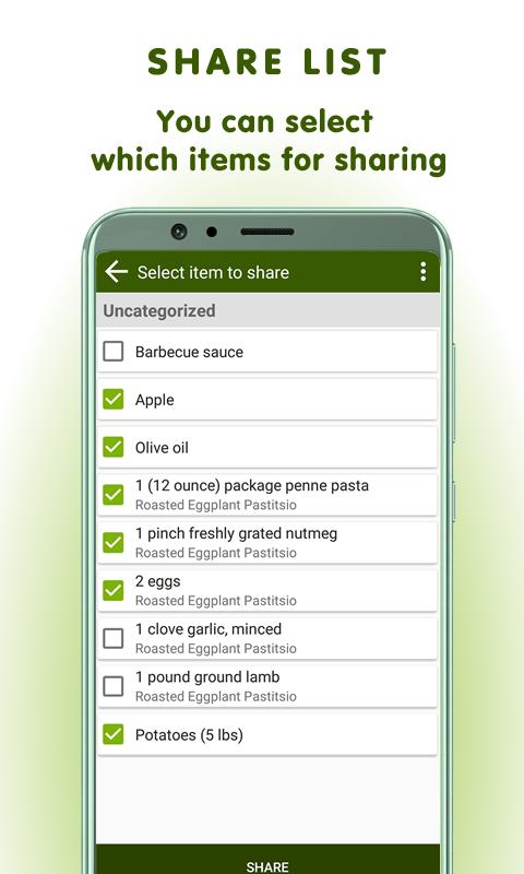 Grocery list app reimagined: BigBag Pro Screenshot 1