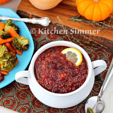Spicy Pineapple and Cranberry Chutney