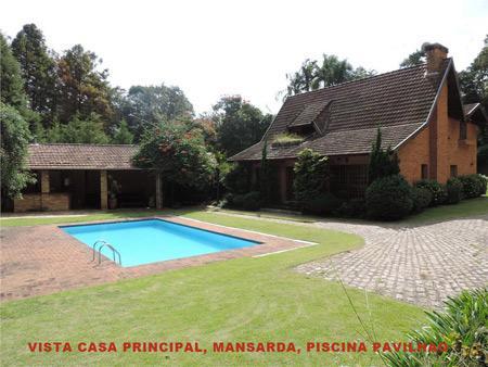Granja Viana / Condomínio Granja Velha - Linda Casa 300m² Terreno 2.000m² 07 Dorms (5 Suítes) PERMUTA PARCIAL para Venda.