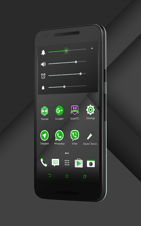 Sense Black/Green cm13 theme Screenshot 12