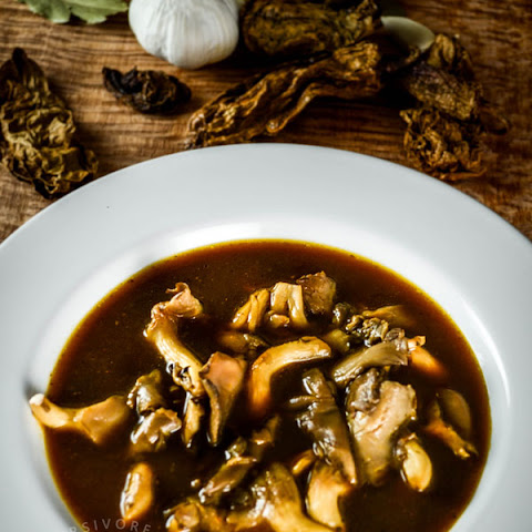 Smoky Mexican Oyster Mushroom Soup