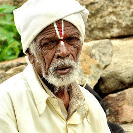 indian old man by Narendra Art - People Portraits of Men (  )