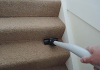 carpet on stairs being cleaned