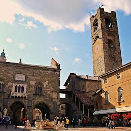 Bergamo_Citta Alta by Francis Xavier Camilleri - City,  Street & Park  Historic Districts
