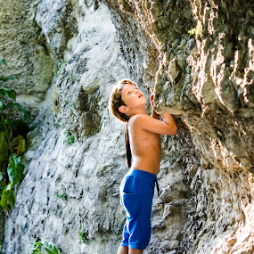 Summer story by Andreea Alexe - Babies & Children Children Candids ( child, color, cliff, outdoor, sun rays,  )