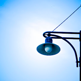 by Brian Adams - Artistic Objects Other Objects ( blue, silhouette, lamppost,  )