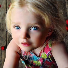 Little Miss Bright Eyes by Cheryl Korotky - Babies & Children Child Portraits