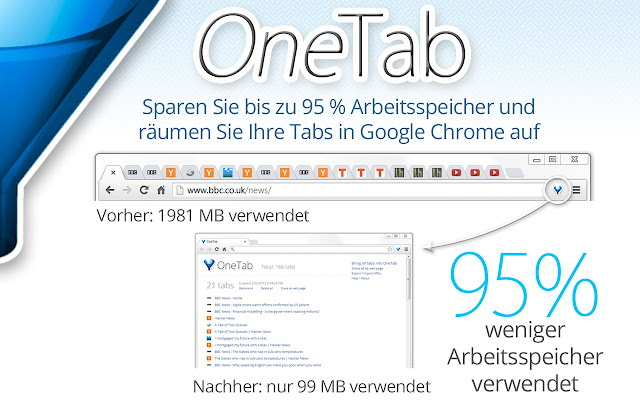 OneTab Screenshot