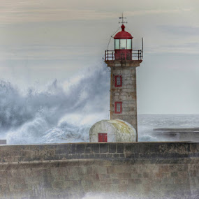 Lighthouse by Ana Carmo - Landscapes Waterscapes