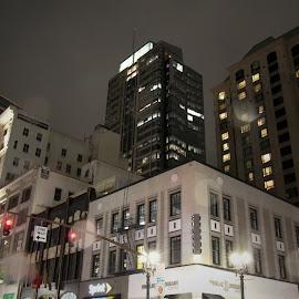 Portland Rain by Gary Winterholler - Buildings & Architecture Office Buildings & Hotels