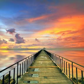 The Sunset Jetty by Alit  Apriyana - Landscapes Travel