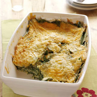 Cheesy Sausage & Spinach Bake