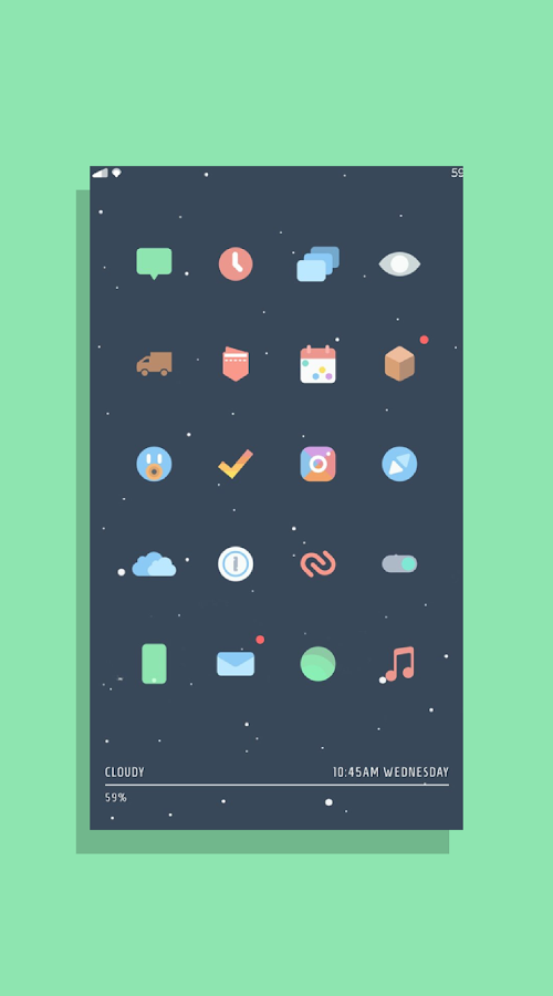 Kecil - Icon Pack for Android Screenshot 2