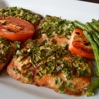 Baked Salmon with Spring Onions