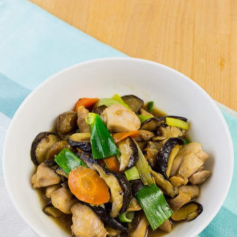 Stir Fried Shiitake Mushroom with Chicken