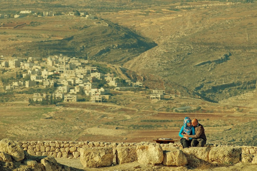 Lovers of  Herodium by Eric Base - People Couples ( west bank, lovers, palestine, herodium, israel, couples, herodion )