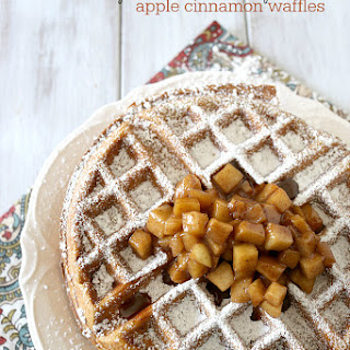 Gluten Free Apple Cinnamon Waffles