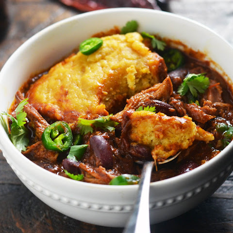 Slow-Cooker Pulled-Pork Chili With Cornbread Dumplings
