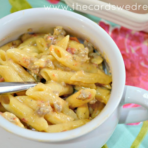Spicy Sausage and Cheese Penne Pasta