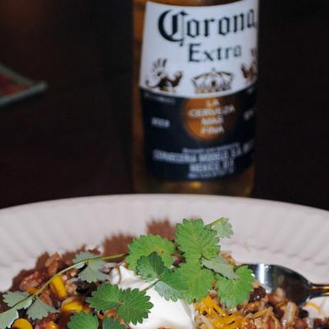 Tequila Laced Mexican Rice and Chicken