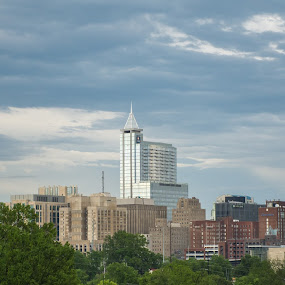 Downtown Raleigh by Thomas Shaw - City,  Street & Park  Skylines ( sky, north carolina, city, downtown, clouds, trees, raleigh, buildings, hdr, cityscape, place, skyscrapers, photography, landscape )