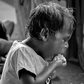 Little Hunger by Sarbani Bhattacherjee - Babies & Children Child Portraits