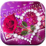 Shine Red Heart Rose Keyboard Icon