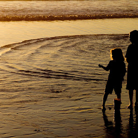 Kids at the Beach by Kyle Rea - Babies & Children Toddlers ( water, luscious scenery, southern california, pacific ocean, children, ocean, fun, beach, wall art, sunset, canvas art, happy, childhood,  )
