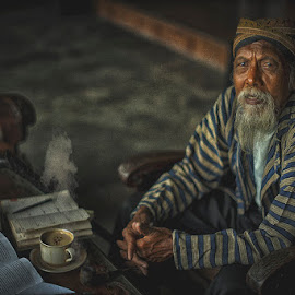 waiting by Indrawan Ekomurtomo - People Portraits of Men