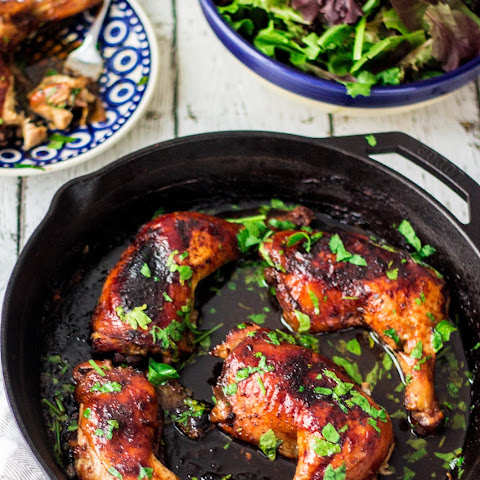 Beer & Honey Roasted Chicken Thighs