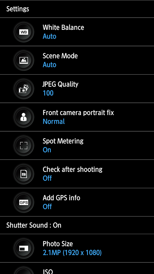 HD Camera Pro - silent shutter Screenshot 12