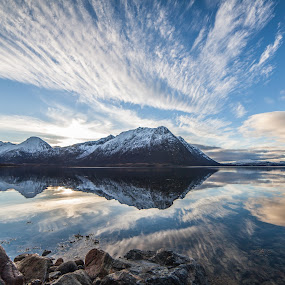 Cloudreflections by Benny Høynes - Landscapes Cloud Formations ( canon, clouds, bennyhøynes, landscapes, sortland, skies, norway )