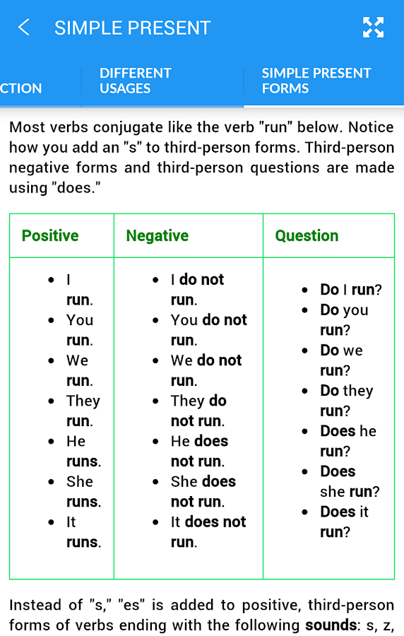 English Tenses Screenshot 4