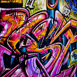 Melbourne Graffiti  by Kimberly Starr - City,  Street & Park  Street Scenes ( colourful, pattern, melbourne, graffiti, background )