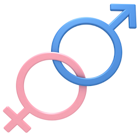 Male and female gender symbols by Alexey Romanenko - Illustration Products & Objects ( graphic, sex, concept, monogamy, romance, love, girl, woman, union, gender, pink, sexual, couple, men, abstract, isolated, icon, connection, symbol, male, white background, shape, marriage, close-up, sign, relationship, two, blue, female, unity, heterosexual, boy, design )