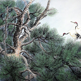 Pine Tree Home by Myong Dutton - Painting All Painting