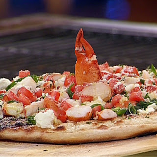 Lobster, Goat Cheese and Scallion Grilled Pizza - California Style Pizza