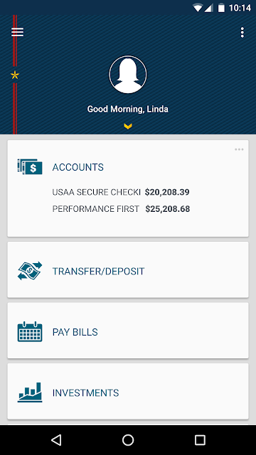 USAA Mobile screenshots