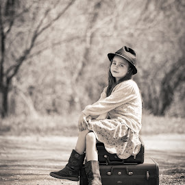by Becky Kempf - Babies & Children Child Portraits ( girl, sitting, afternoon )
