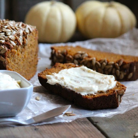 Pumpkin Bread with Orange Cream Cheese