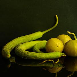 Greens by Prasanta Das - Food & Drink Fruits & Vegetables ( green, vegetables, composition )