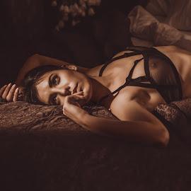 Annie by Atanas Donev - Nudes & Boudoir Boudoir ( lingerie, woman, beautiful, low light,  )