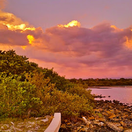 { Clam Bayou ~ Storm Brewing }  by Jeffrey Lee - Landscapes Sunsets & Sunrises ( clam bayou sunsets with storm clouds,  )