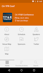 CA YFR Conf - screenshot