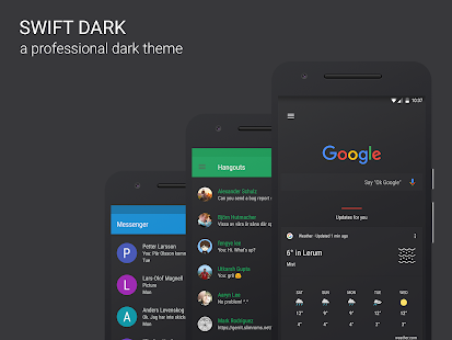 Swift Dark CM12 & CM13 Theme- screenshot thumbnail