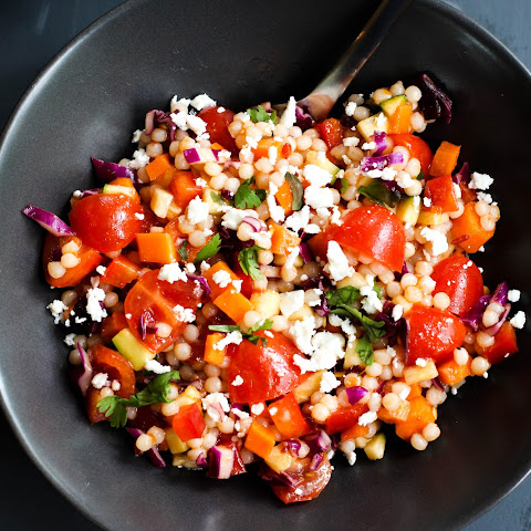 Spicy Israeli Couscous Salad