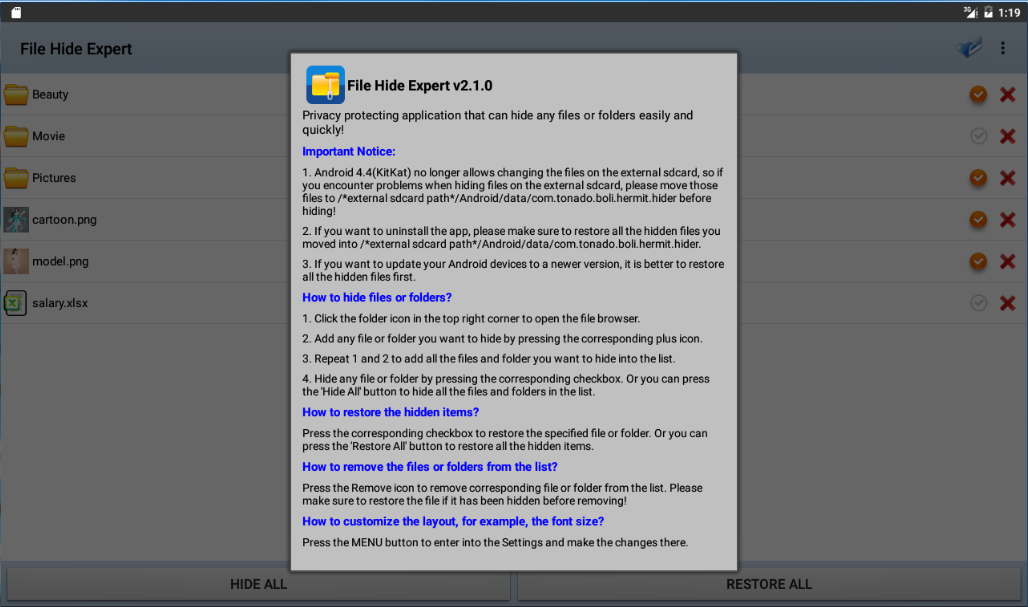 Hide Expert Pro Screenshot 13