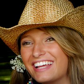 Blonde Cowgirl by Myra Brizendine Wilson - People Fashion ( cowboy hat, model, female, nc, hat, beautiful model )