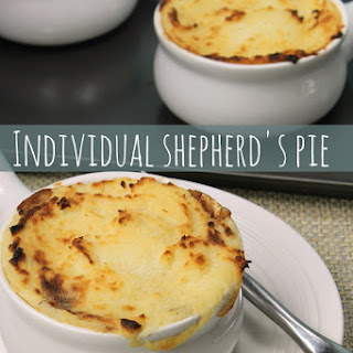 Individual Shepherd's Pie {made from leftovers}