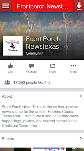Frontporch Newstexas - screenshot